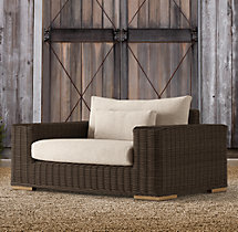 Majorca Luxe Chair-and-a-Half Brown