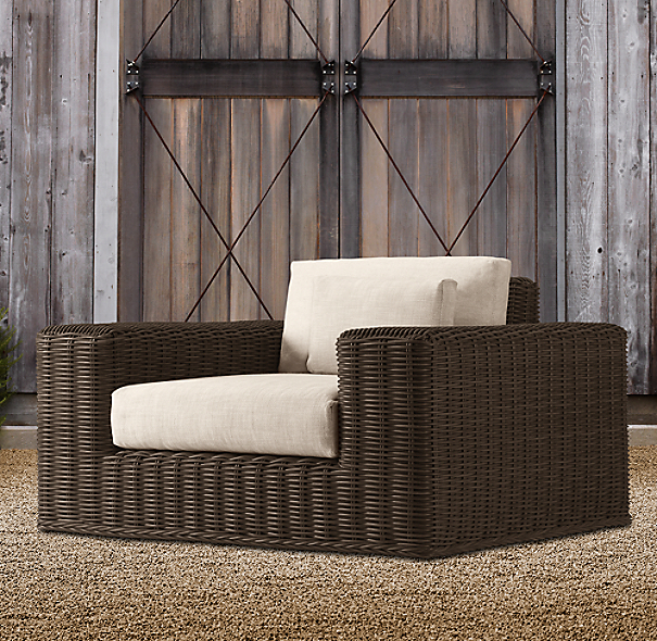 Majorca Luxe Lounge Swivel Brown