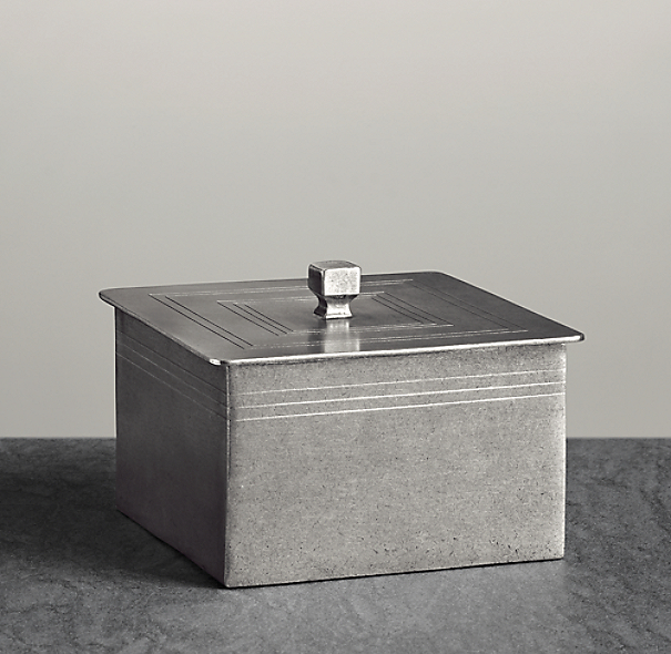 Apothecary Pewter Accessories - Box