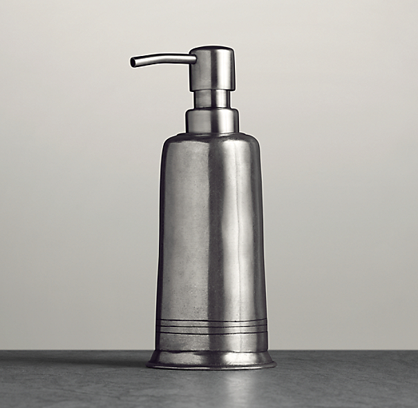 Apothecary Pewter Accessories - Soap Dispenser