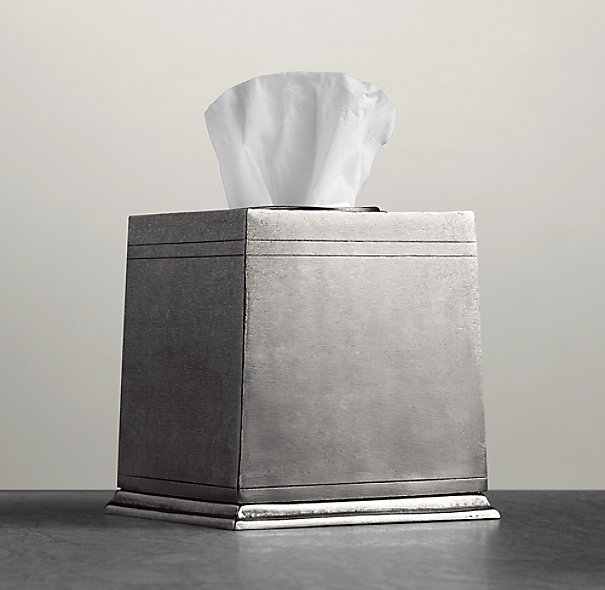 Apothecary Pewter Accessories - Tissue Cover