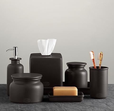 Countertop accessories rh for Bath countertop accessories