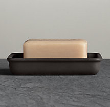Flatiron Union Stoneware Soap Dish Charcoal