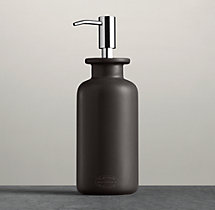 Flatiron Union Stoneware Soap Dispenser Charcoal