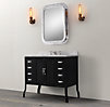 Pharmacy Single Vanity Sink Black