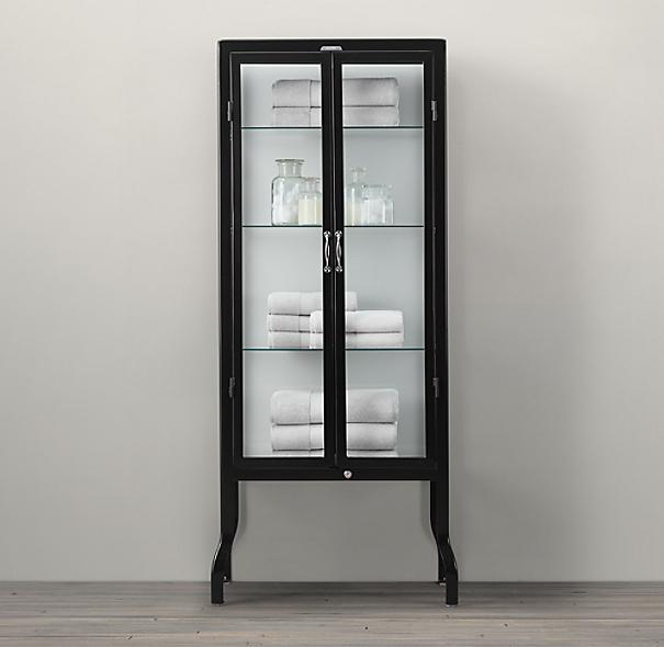 pharmacy tall bath cabinet black
