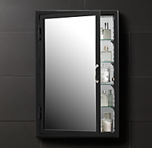 Pharmacy Wall Mount Medicine Cabinet Black