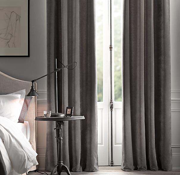 28 restoration hardware curtains vintage velvet drapery