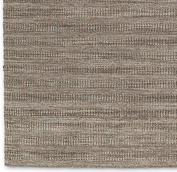 Textured Striped Wool Rug Swatch - Marled