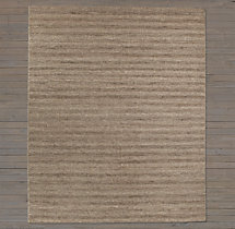 Textured Striped Wool Rug Swatch - Heather Grey