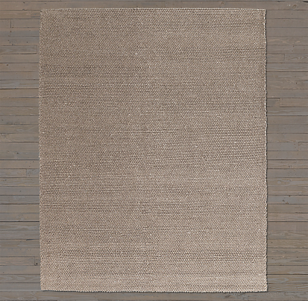 Textura Loop Wool Rug Swatch - Marled