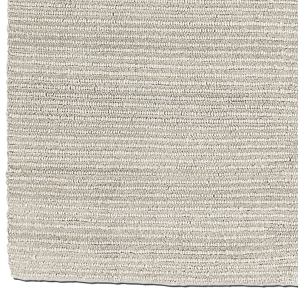 Textura Stripe Wool Rug Swatch - Grey