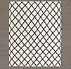Diamante Flatweave Linen Rug Swatch - Cream/Charcoal