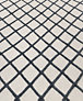 Diamante Flatweave Rug - Cream/Charcoal