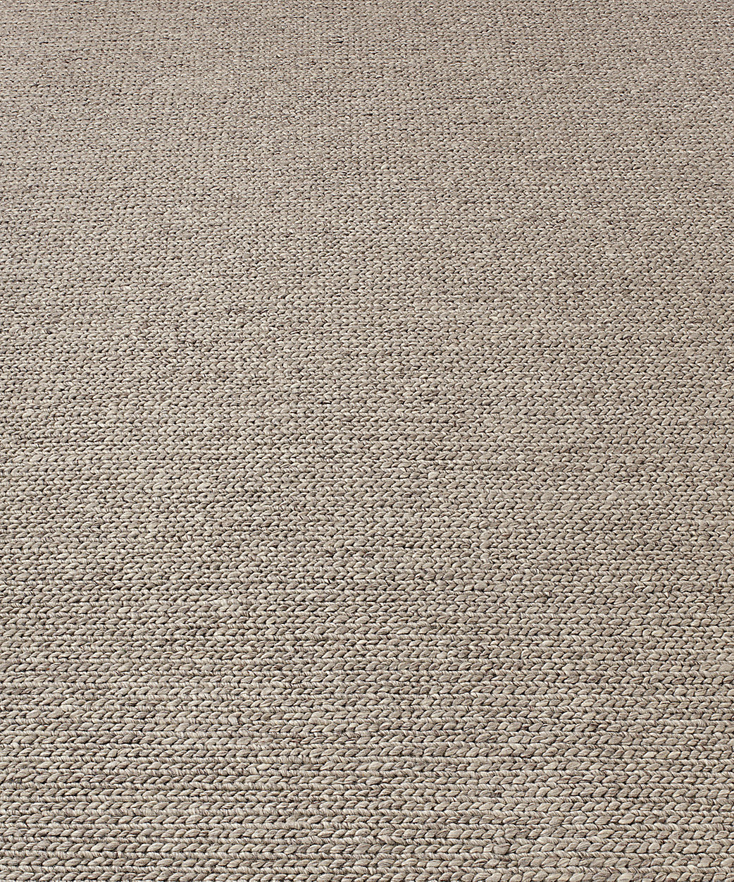 Textura Plaited Wool Rug - Grey