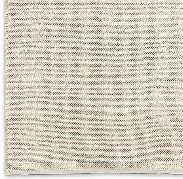 Textura Plaited Wool Rug Swatch - Cream