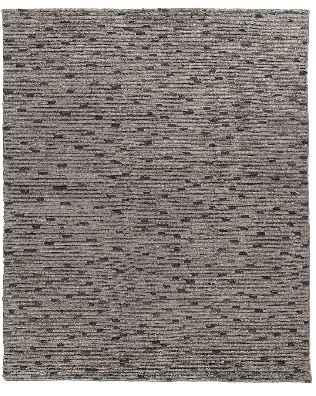 Naturale Ribbed Wool Rug - Charcoal