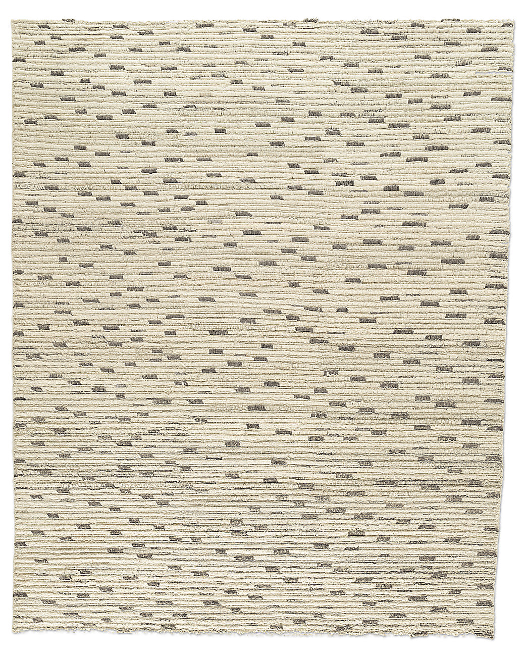 Naturale Ribbed Wool Rug - Cream