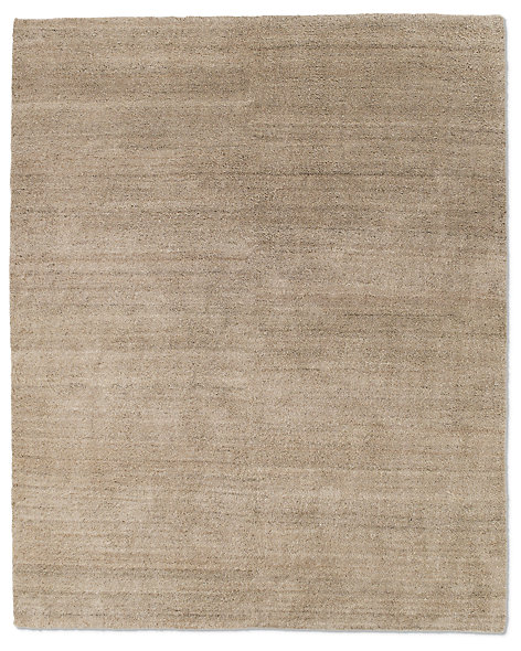 Luxe Heathered Wool Rug - Sand