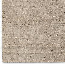 Luxe Heathered Wool Rug Swatch - Sand