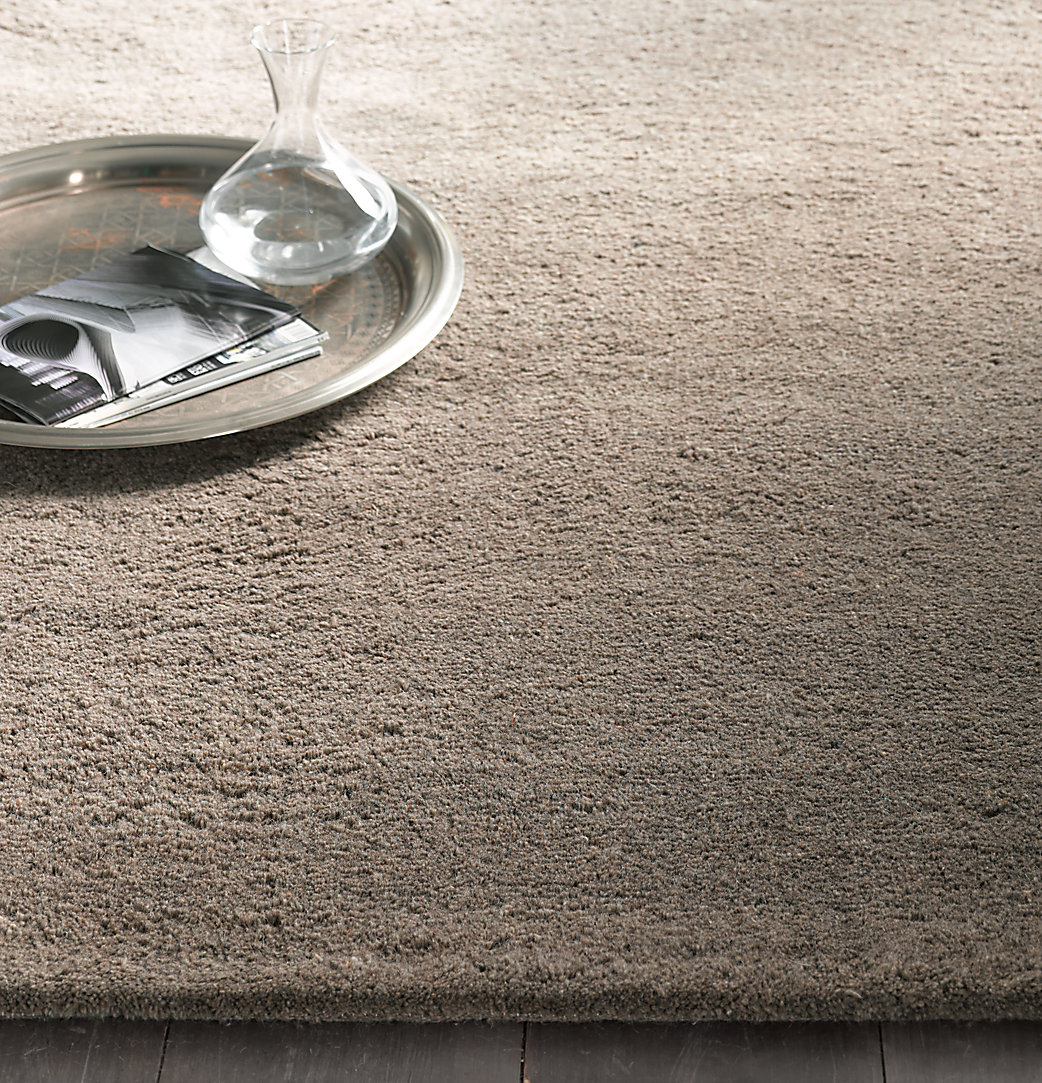Luxe Heathered Wool Rug - Heathered Grey