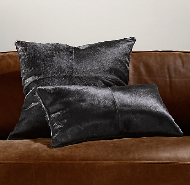 Brazilian Cowhide Pillow Covers - Espresso