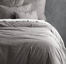 Garment-Dyed Ticking Stripe Duvet Cover
