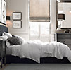 Garment-Dyed Textured Linen Duvet Cover