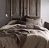 Garment-Dyed Basket Weave Duvet Cover
