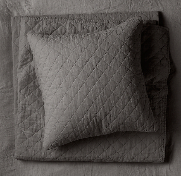 Garment-Dyed Diamond Quilt Euro Sham