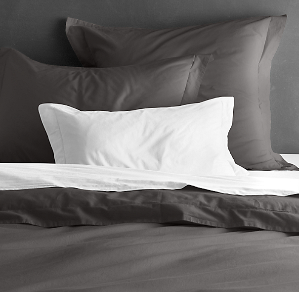 Garment-Dyed Percale Sham