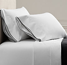 Italian Tipped Satin Stitch Sheet Set