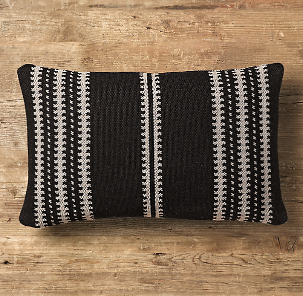 Moroccan Atlas Stripe Lumbar Pillow Cover