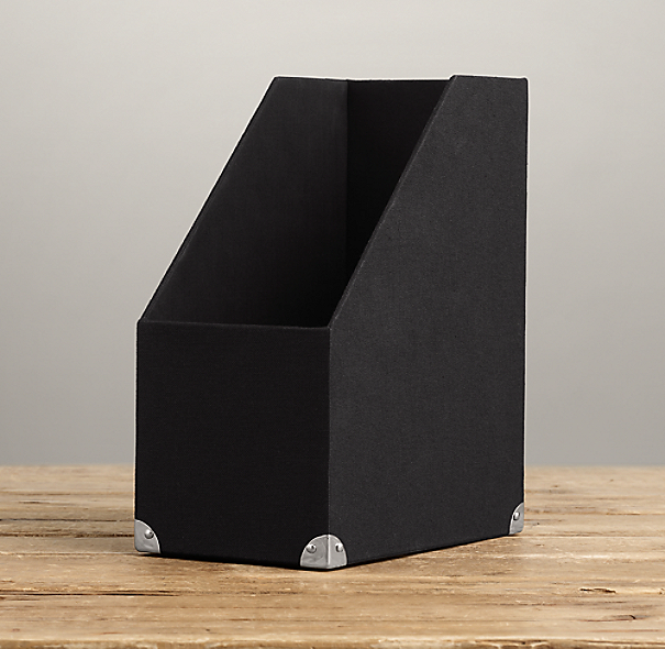 Linen Magazine Box Black