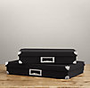 Linen Document Box Black