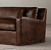 8' Belgian Slope Arm Leather Sofa