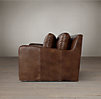 9' Belgian Slope Arm Leather Sofa