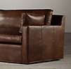 8' Belgian Track Arm Leather Sofa