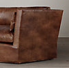 5' Belgian Shelter Arm Leather Sofa