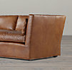 8' Belgian Shelter Arm Leather Sofa
