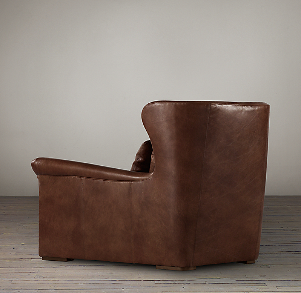 Belgian Wingback Leather Chair