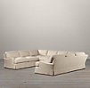 English Roll Arm Slipcovered U-Sofa Sectional