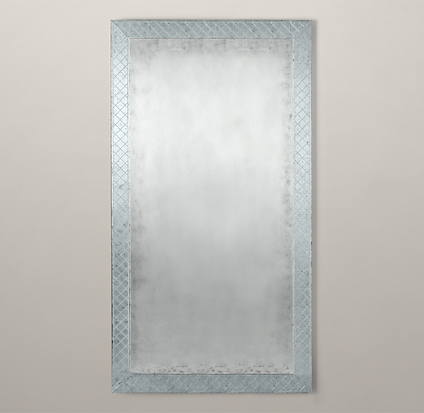18th C. Venetian Cut-Glass Leaner Mirror
