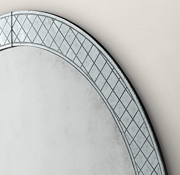 18th C. Venetian Cut-Glass Round Mirror