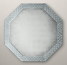 18th C. Venetian Cut-Glass Octagonal Mirror