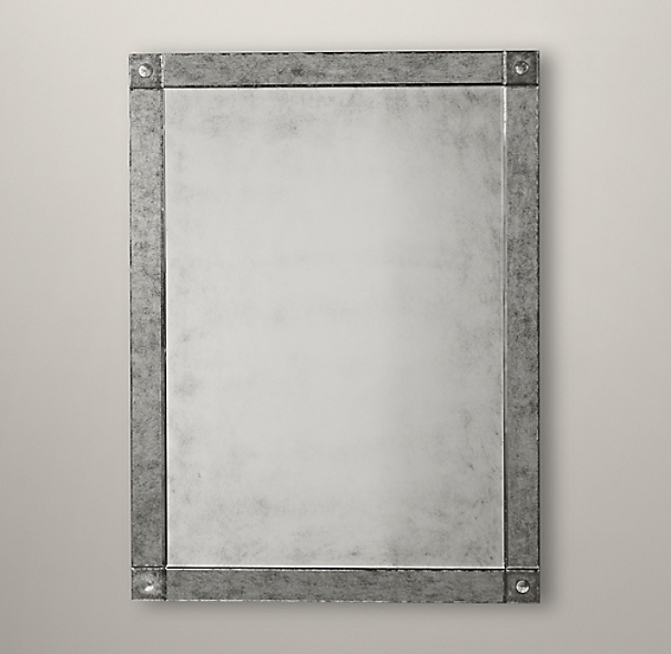 Palazzo Antiqued-Glass Mirror
