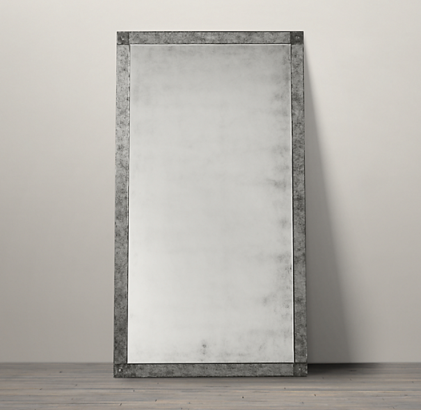 Palazzo Antiqued-Glass Leaner Mirror