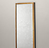 Bistro Antiqued Brass Narrow Leaner Mirror
