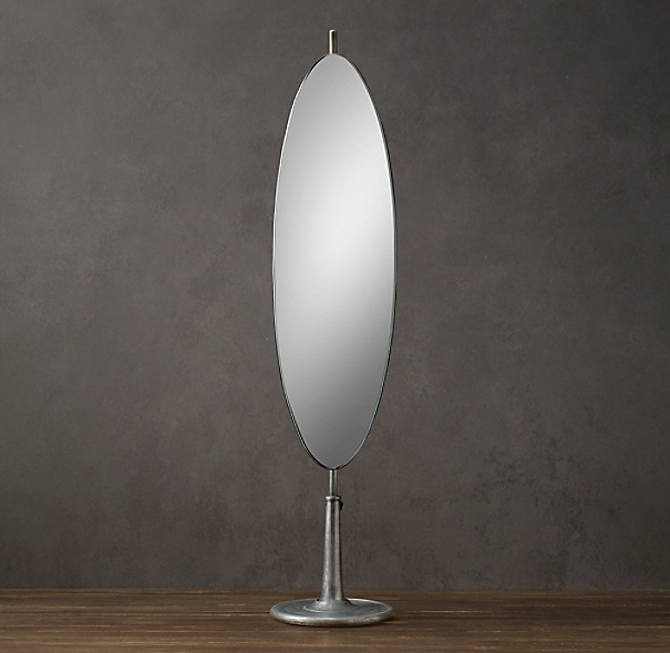Telescoping Dressing Mirror Oval