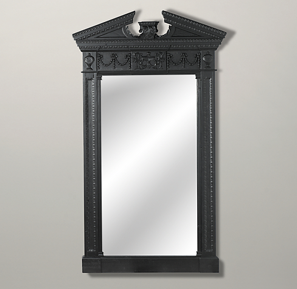 Entablature Mirror Black